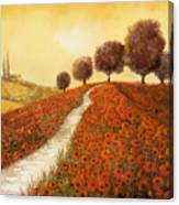 La Collina Dei Papaveri Canvas Print