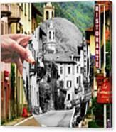 La Comacina Ristorante-colonno, Ital Canvas Print