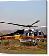 La County Fire Air Support Canvas Print