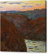 La Creuse, Sunset Canvas Print
