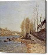 La Croix Blanche At Saint Mamme Canvas Print