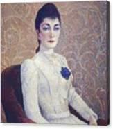 La Dame La Robe Blanche 1886 Canvas Print