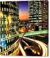 La Defense By Night - Paris Canvas Print