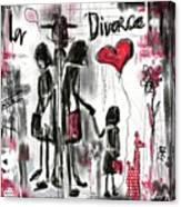 La Divorce  Canvas Print