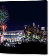 La Dodger Fireworks Canvas Print