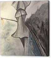 La Femme Au Parapluie Canvas Print
