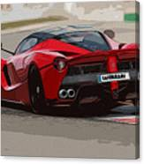 La Ferrari - Rear View Canvas Print