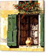 la finestra di Sue Canvas Print