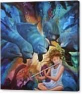 la flautista III Canvas Print