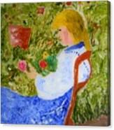La Fleuriste Canvas Print