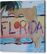 La Florida Flowered Land Canvas Print