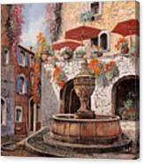 la fontana a St Paul de Vence Canvas Print