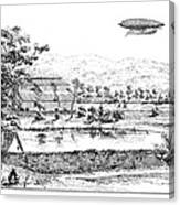 La France Airship, 1884 Canvas Print