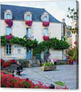 La Gacilly, Morbihan, Brittany, France, Town Hall Painting Canvas Print