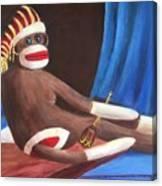 La Grande Sock Monkey Canvas Print