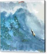 La Jolla Big Surf Canvas Print