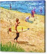 La Jolla Surfers Canvas Print