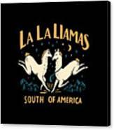 La La Llamas Canvas Print