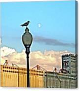 La Lune L'oiseau L'usine Canvas Print