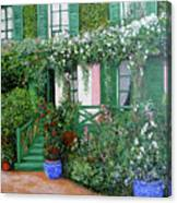 La Maison De Claude Monet Canvas Print