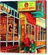 La Maison Du Bagel Canvas Print