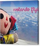 La Mexicanita Flying Canvas Print