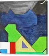 La Notte Sopra La Citta Verde - Part Iv Canvas Print
