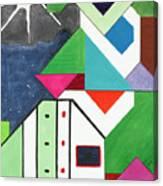 La Notte Sopra La Citta Verde - Part V Canvas Print