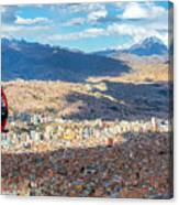 La Paz Cable Car Canvas Print