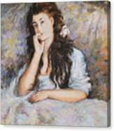 La Pensee My Reproduction Of Renoirs Work Canvas Print