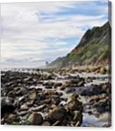 La Piedra Shore Malibu Dusk Canvas Print