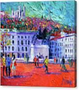 La Place Bellecour A Lyon Canvas Print