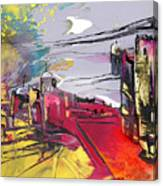 La Place Rouge Espagnole Canvas Print