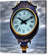 La Plata Clock Canvas Print