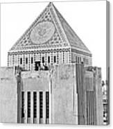 La Public Library Tower Mosaic Canvas Print