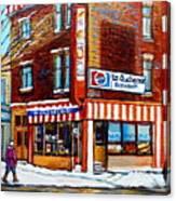 La Quebecoise Restaurant Montreal Canvas Print