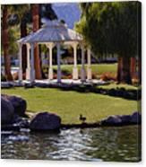 La Quinta Park Lake And Gazebo Canvas Print