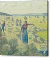 The Harvesting Of Hay Eragny  Canvas Print