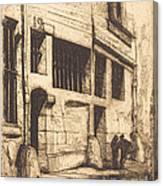 La Rue Des Mauvais Gar?ons, Paris (the Street Of The Bad Boys) Canvas Print