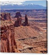 La Sal And The Canyon Canvas Print