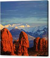 La Sal Mountains In Arches Np Utah Canvas Print