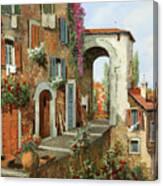 La Stradina Tra I Campi Rossi Canvas Print