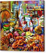 La Table De Fruits De Mer Canvas Print
