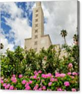 La Temple Pink Canvas Print