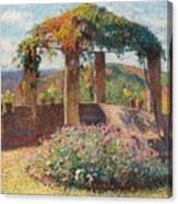La Tonelle De L'angle Nord-ouest Du Parc De Marquayrol Canvas Print
