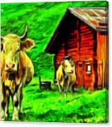 La Vaca Canvas Print