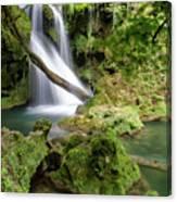 La Vaioaga Waterfall Canvas Print