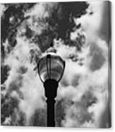 Lamp In The Clouds Canvas Print
