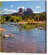 Lab In River At Sedona Arizona Canvas Print