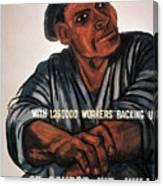 Labor Poster, 1930s Canvas Print